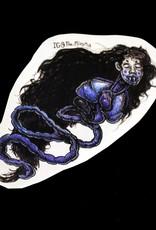 """Penanggalan"" blue sticker by The Miasma"