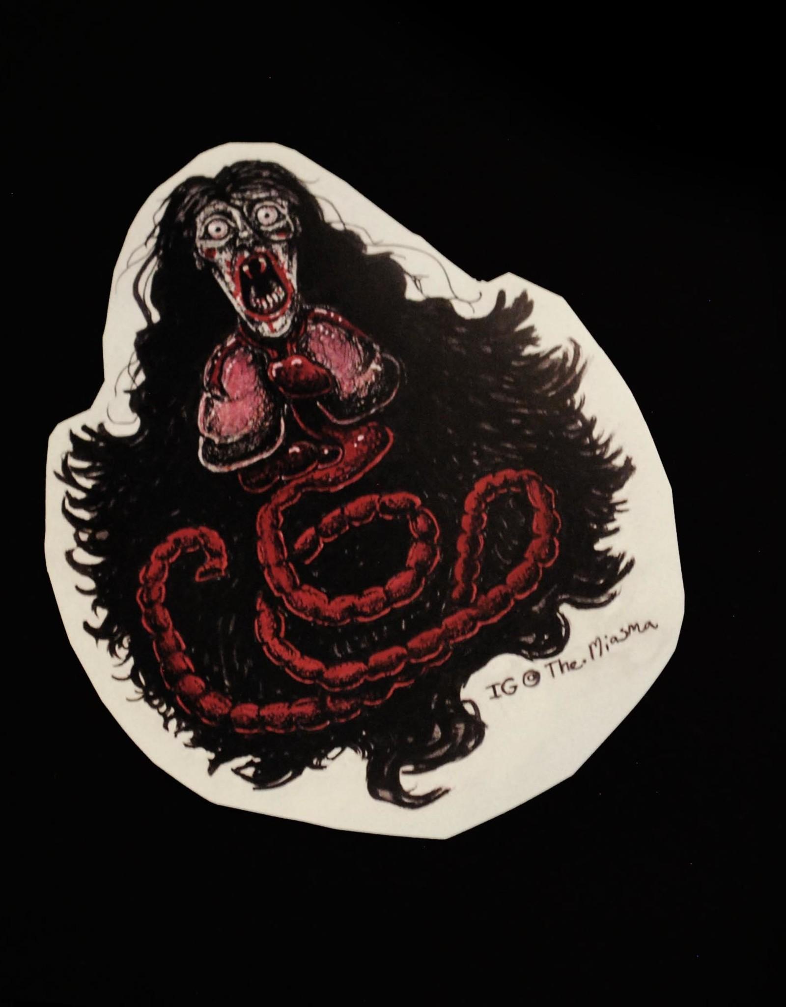 """Penanggalan"" red sticker by The Miasma"
