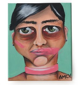 "AMCV ""Self-Portrait"" 5 acrylic on canvas by AMCV"