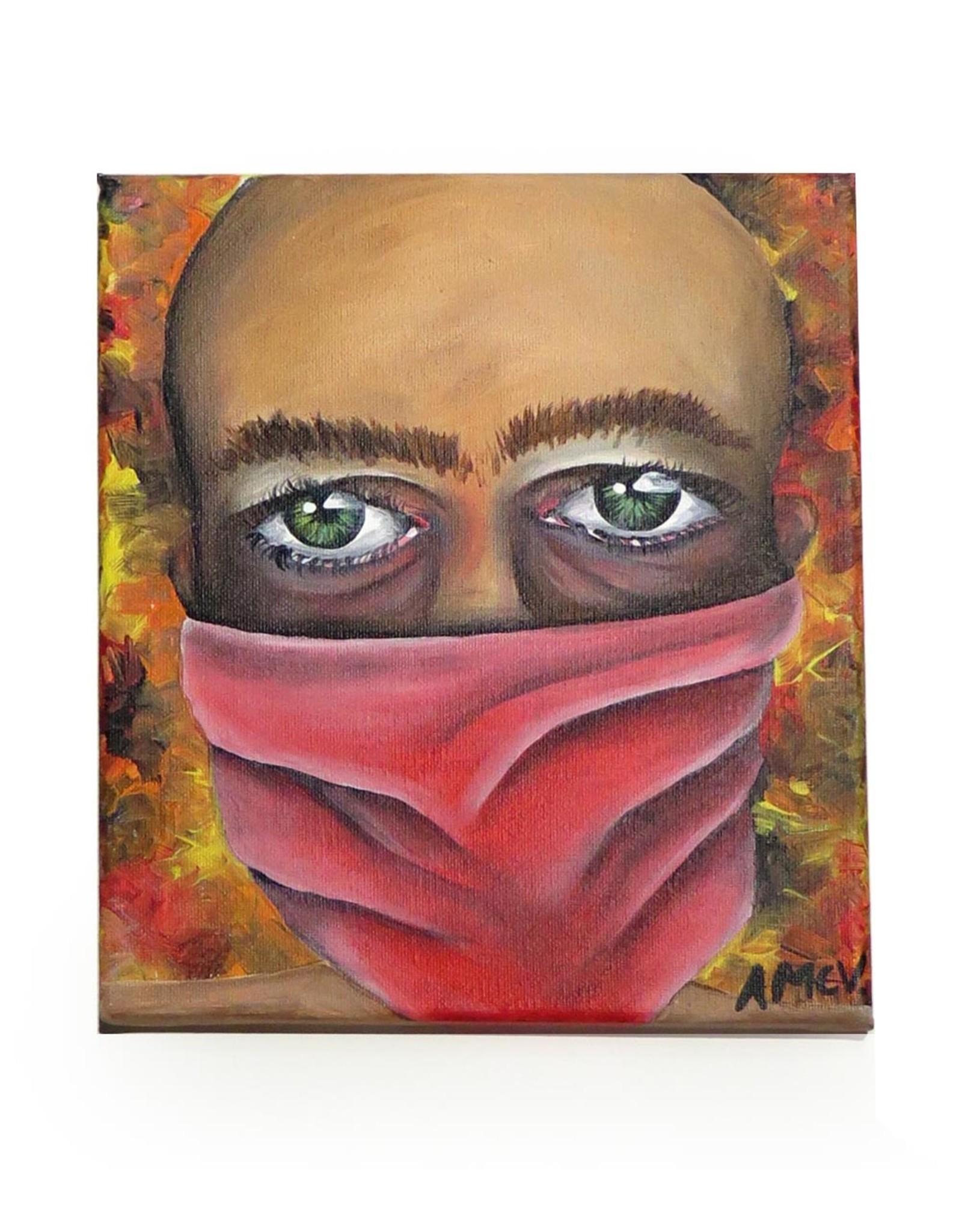 "AMCV ""Self-Portrait"" 6 acrylic on canvas by AMCV"