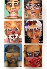 "AMCV ""Self-Portrait"" 1 acrylic on canvas by AMCV"