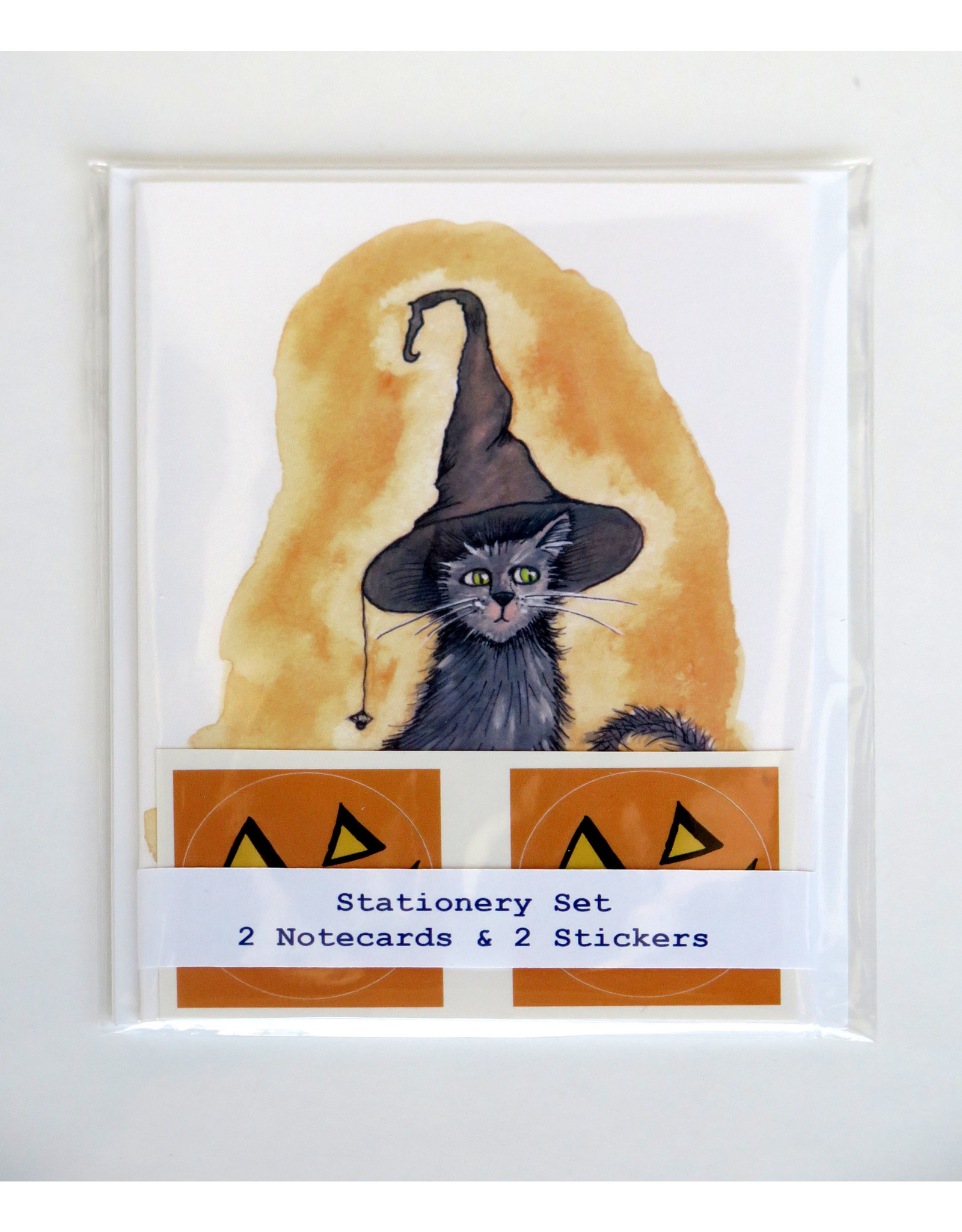 Melissa Rohr Gindling Halloween Kitty Stationery Set by Melissa Rohr Gindling