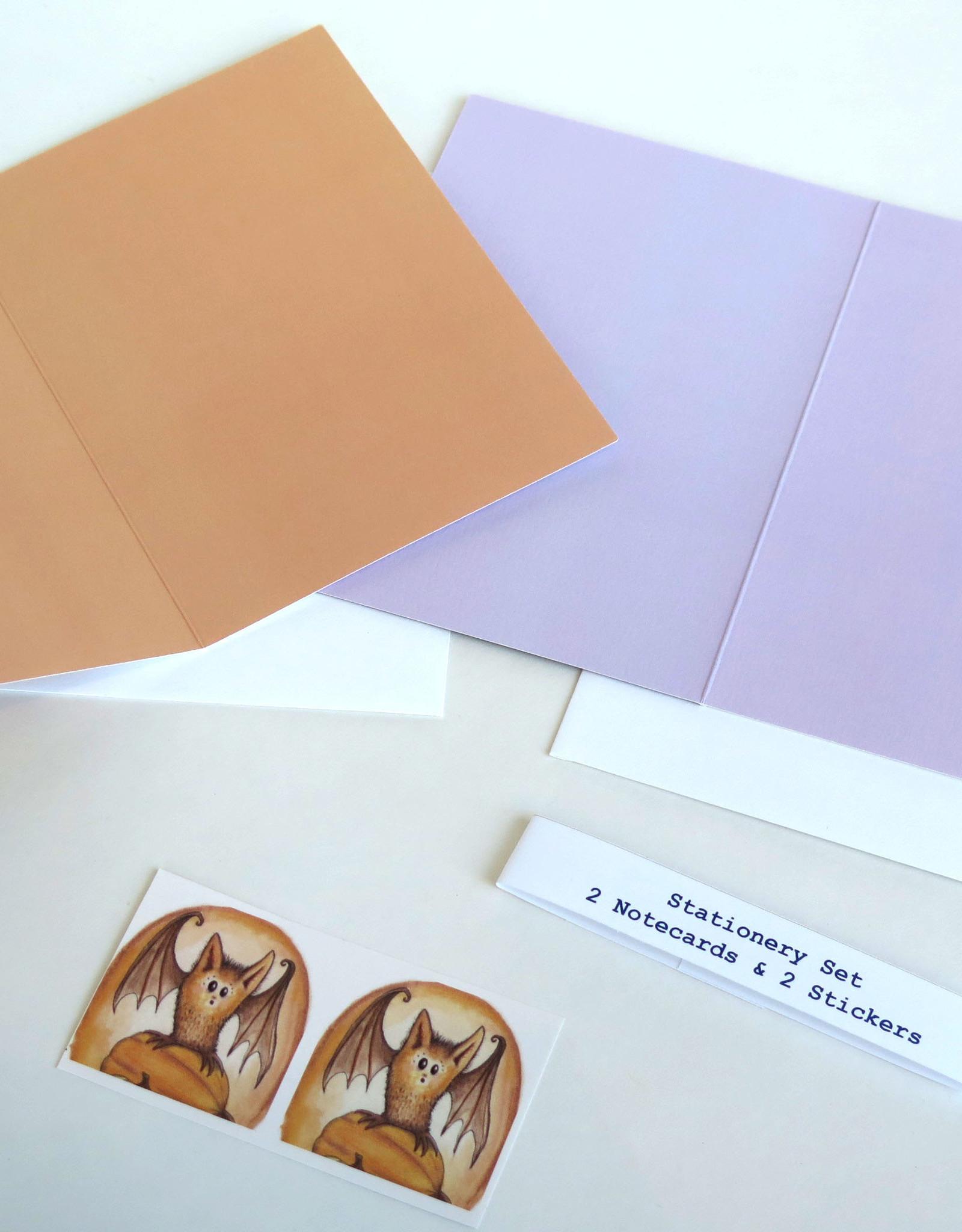 Melissa Rohr Gindling Bat Stationery Set by Melissa Rohr Gindling