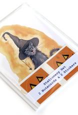 Melissa Rohr Gindling Halloween Kitty Stationery Set by Melissa Rohr Gindling