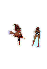 "Morgan Illustrates ""Halloween"" 2 pack of stickers by Morgan Illustrates"