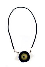 Blue/Hazel Porcelain Evil Eye Necklace, Larissa Rolley
