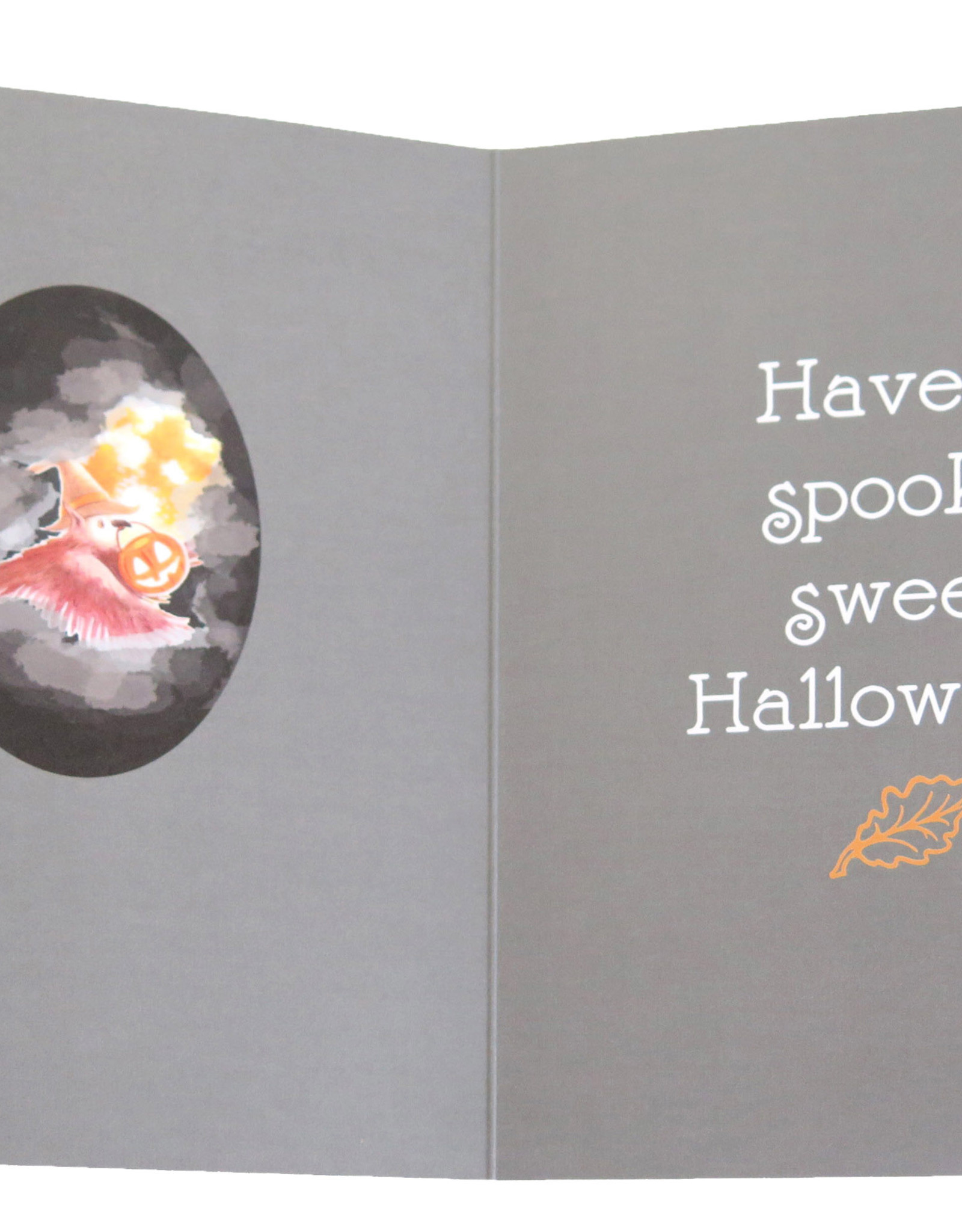 Melissa Rohr Gindling Halloween Greeting Card with flocking, Melissa Rohr Gindling