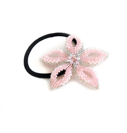 """Knot Thinkers """"Beaded Hair Band"""" (pink) by Knot Thinkers"""