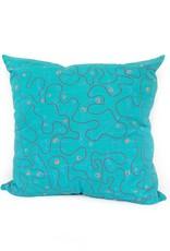 Flight (teal) pillow  PINTL + KYET