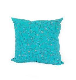 Flight (teal) pillow  PINTL + KYET
