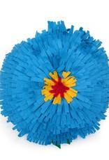 Large Felt Flower Pillow (teal), by Eva Airam Studio