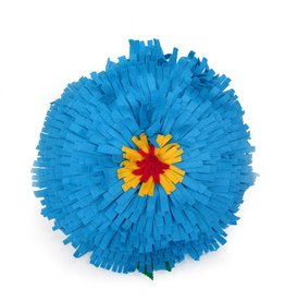 Large Felt Flower Pillow (teal), by Eva Airam Studio