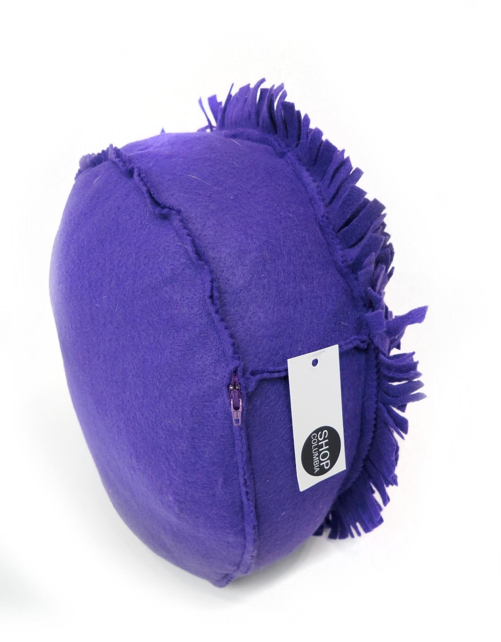 Large Felt Flower Pillow (purple), by Eva Airam Studio