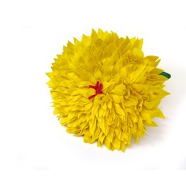 Extra Large Felt Flower Pillow (yellow), Eva Airam Studio