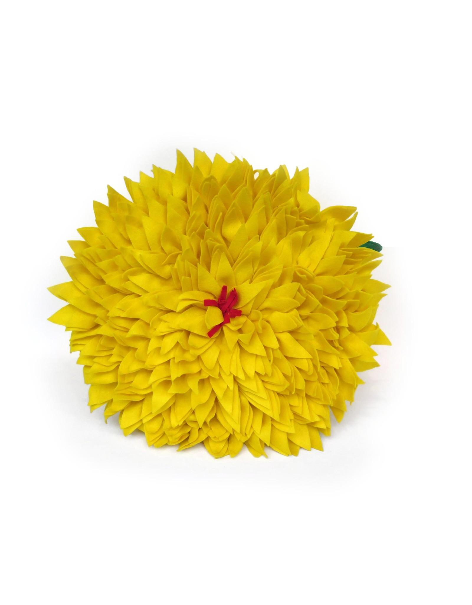 Extra Large Felt Flower Pillow (yellow), Eva Airam Studio