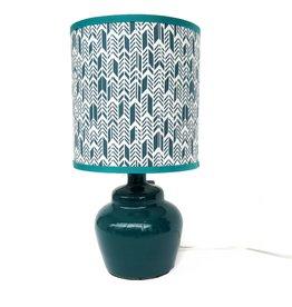 Small plump teal lamp by Ronda Ruby ceramics