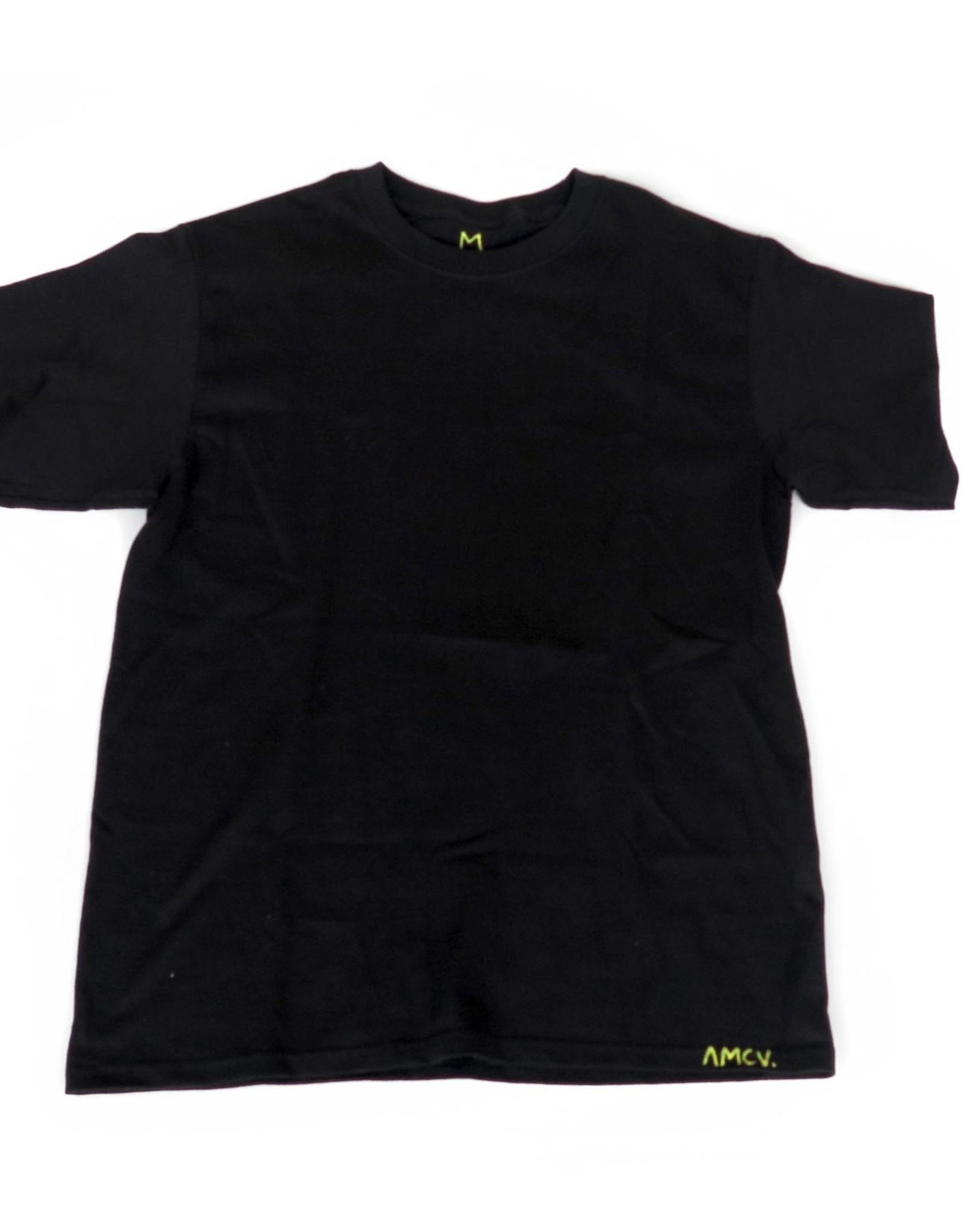 "AMCV ""Fuckin"" acrylic paint on black tshirt by AMCV"