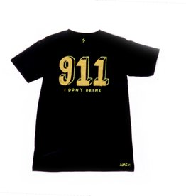 "AMCV ""911"" acrylic paint on black tshirt by AMCV"