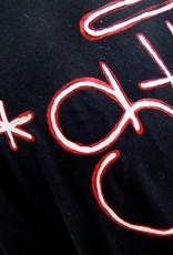 "AMCV ""Shit"" acrylic paint on black tshirt by AMCV"
