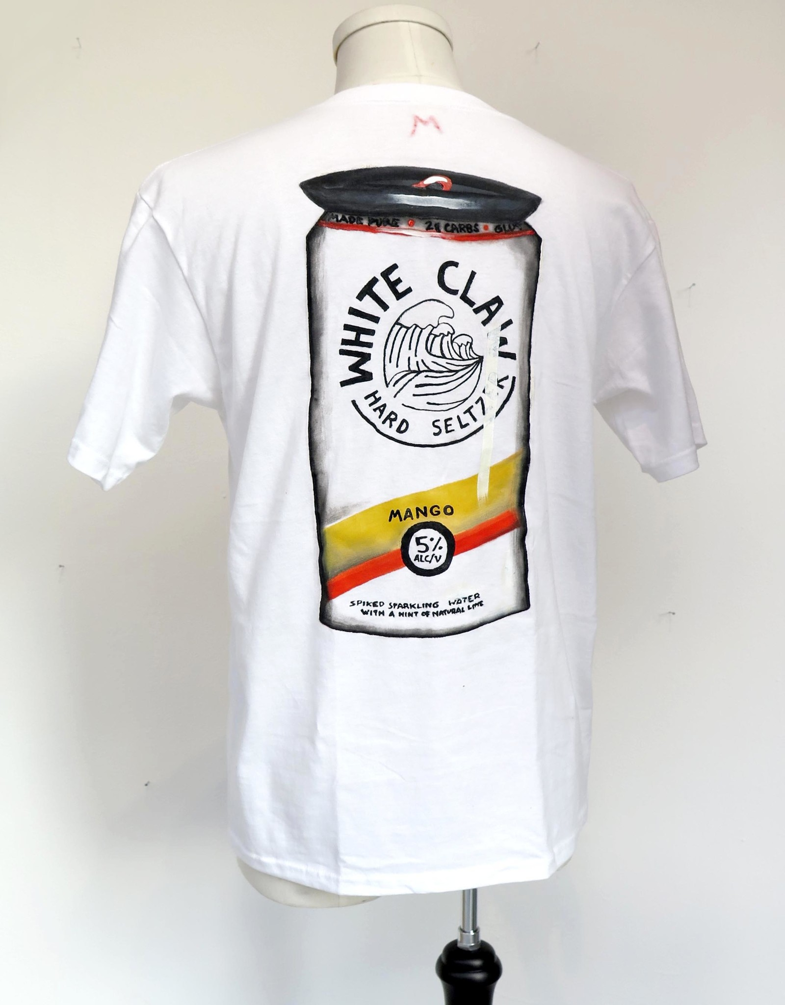 "AMCV ""White claw"" acrylic paint on white tshirt by AMCV"