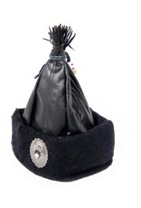Black Hungarian Leather Hat, Beatrix Budy