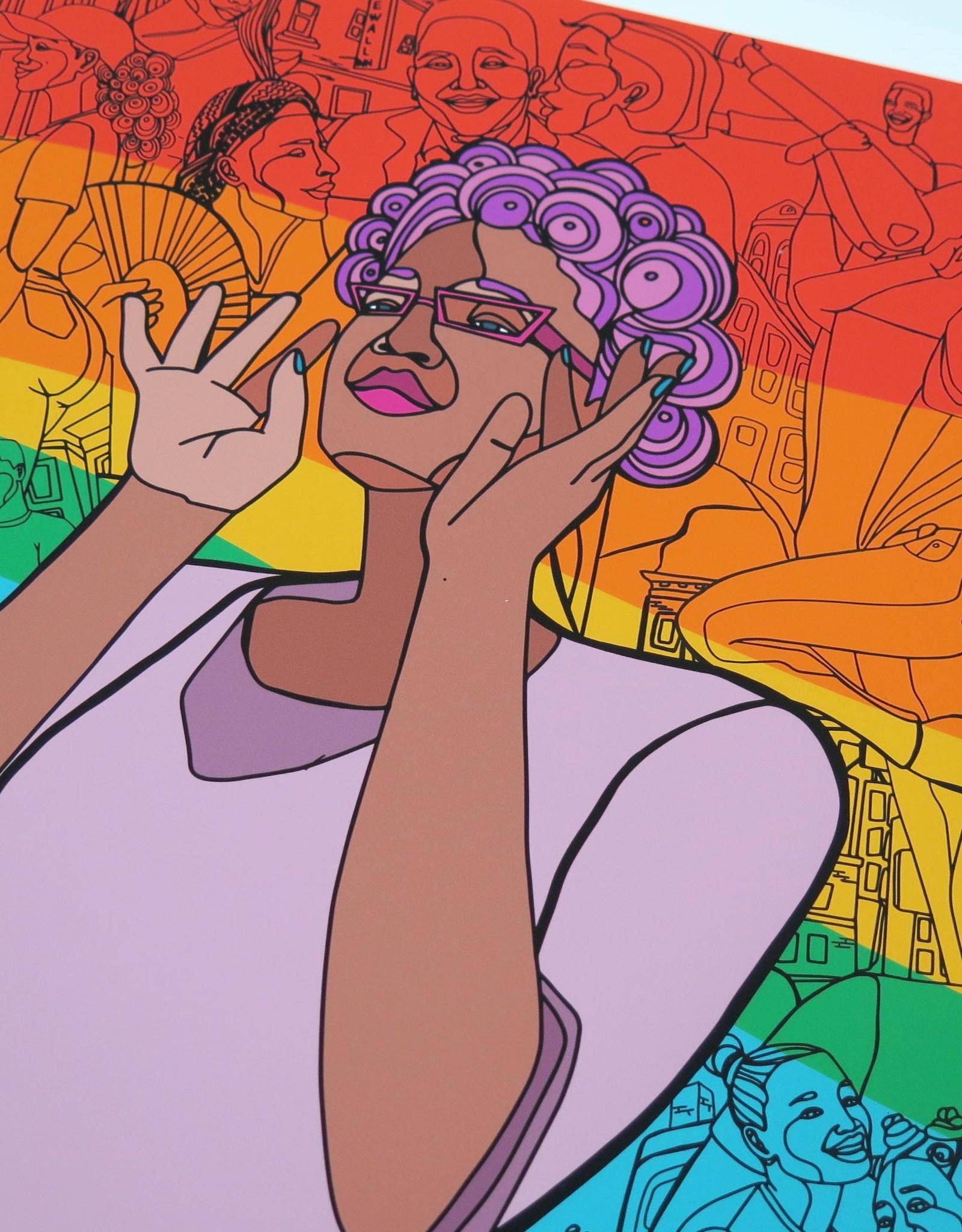 Sam Kirk Queertopia Rainbow Print by Sam Kirk