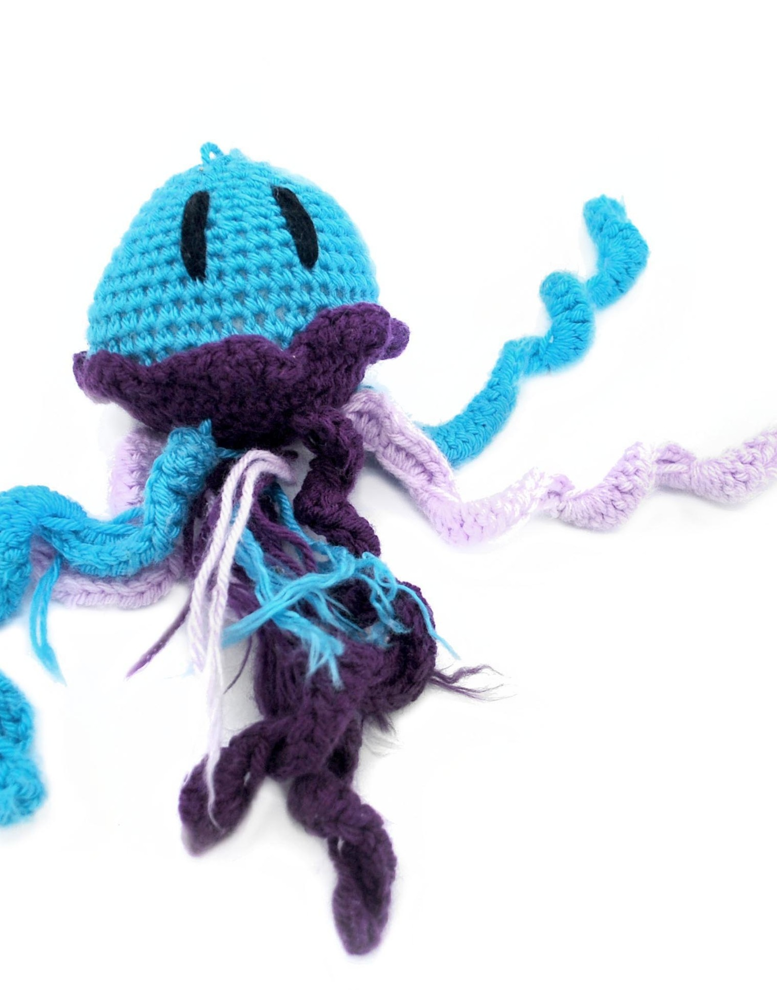 Haley Slamon Aqua and Purple Plush Jellyfish by Haley Slamon