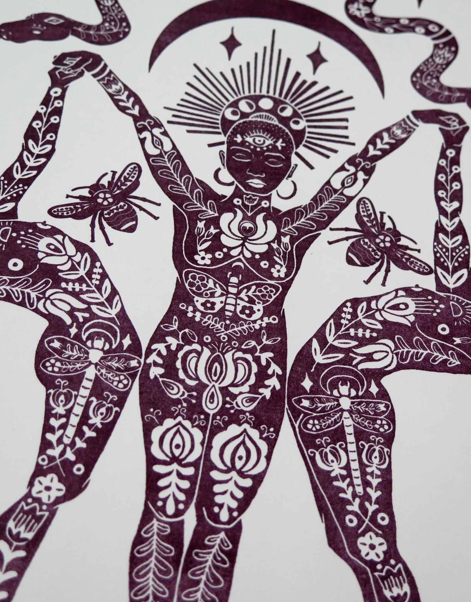 """Kirsten Beard """"Snake Goddess"""" Lithography Print by Kirsten Beard"""