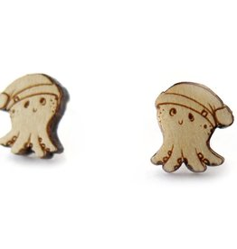 Sophie Quillec Squid Beanie Earrings by Sophie Quillec