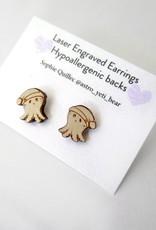Sophie Quillec Squid Beanie Earrings by Sophie Quillec