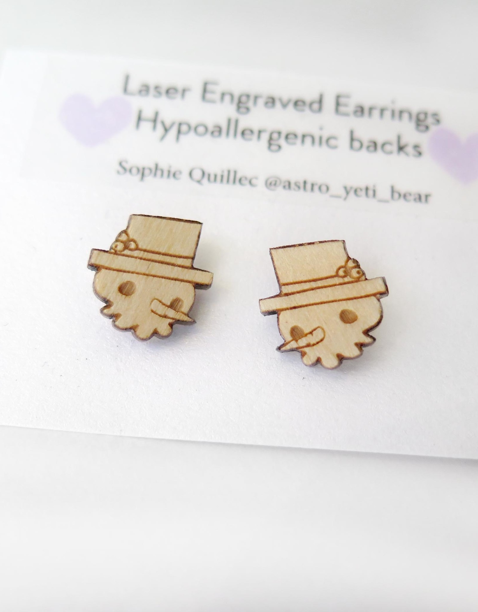 Sophie Quillec Gingerbread Boys Earrings by Sophie Quillec