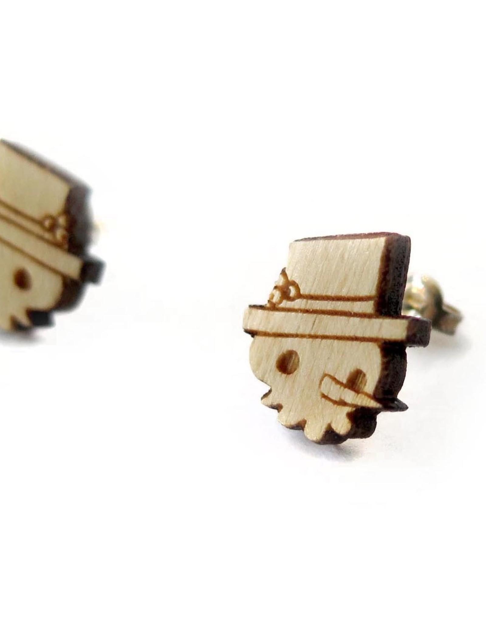 Sophie Quillec Skull Snowmen earrings by Sophie Quillec