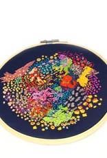 Overlapped embroidery by Jasmine David