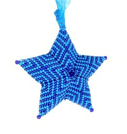 "Knot Thinkers ""Star Ornament"" (blue) by Knot Thinkers"