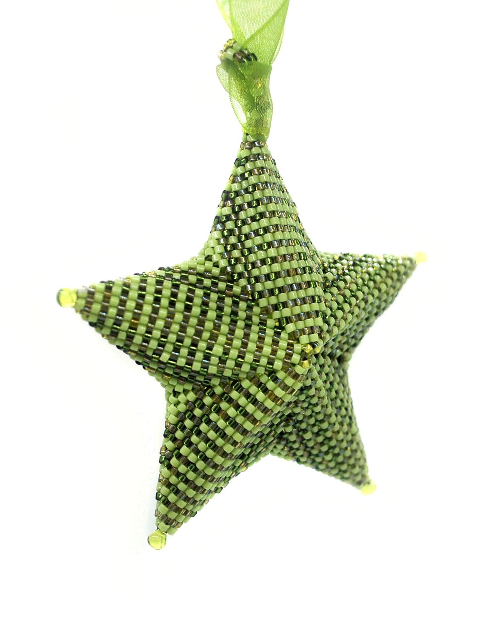 """Knot Thinkers """"Star Ornament"""" (green) by Knot Thinkers"""