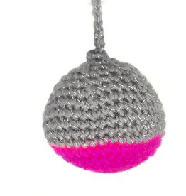 Magenta and Gray Crochet Ornaments by Hale Ekinci