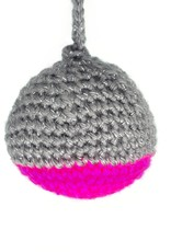 Magenta and Gray Crochet Ornaments by Hale Ekinci