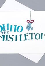 Paper Heart Dispatch Oh Ho the Misteltoe card by Jennifer Hines