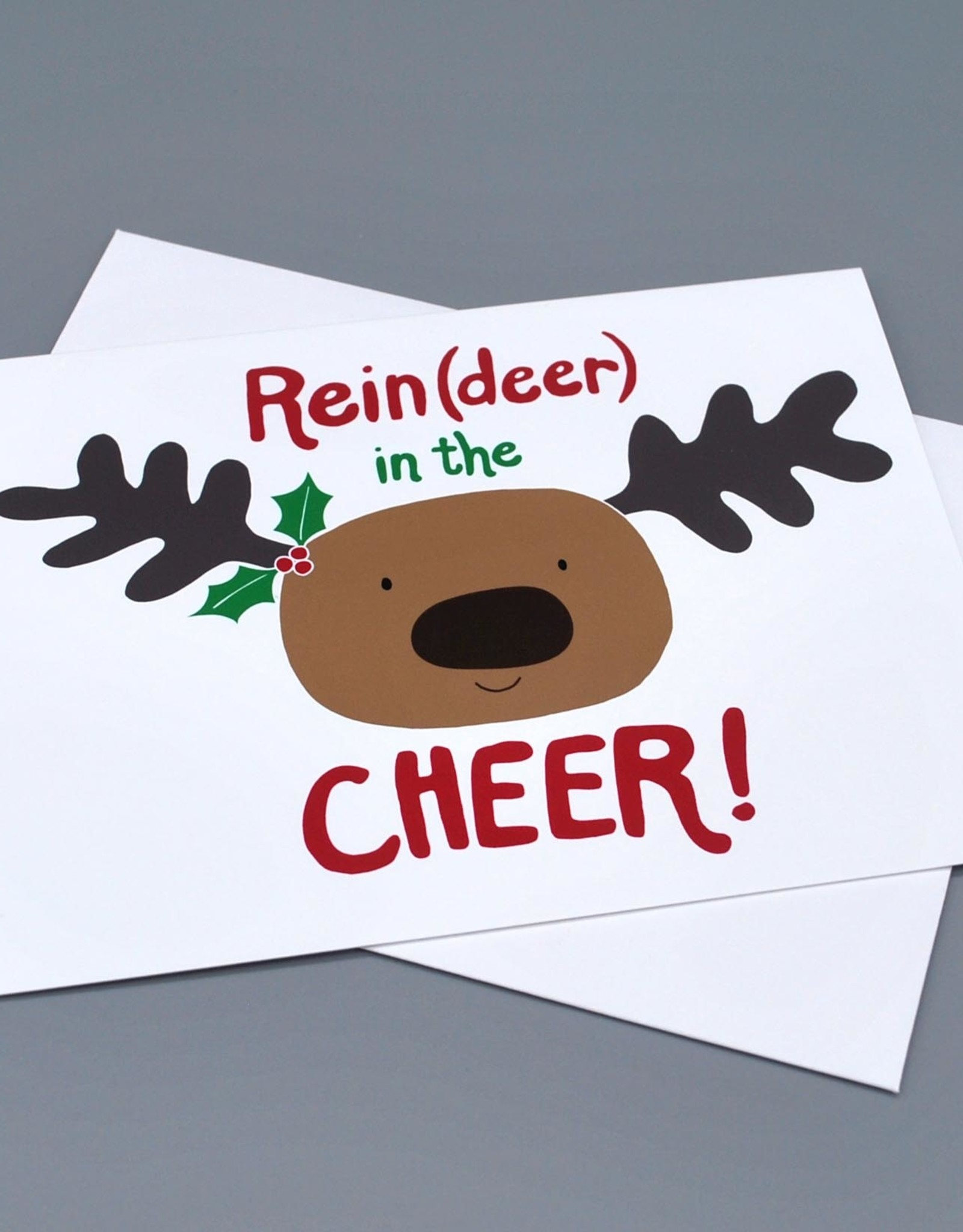 Paper Heart Dispatch Reindeer in the Cheer card by Jennifer Hines