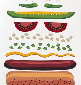 """Chicago Dog"" Silk Screen Print by Danielle Przybysz"