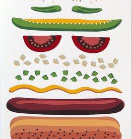 """Chicago Dog"" Silk Screen Print by Danielle Przybysz"