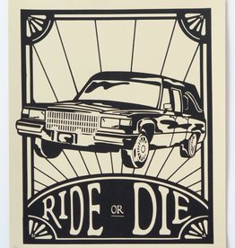 """Ride or Die"" Silk Screen Print by Danielle Przybysz"