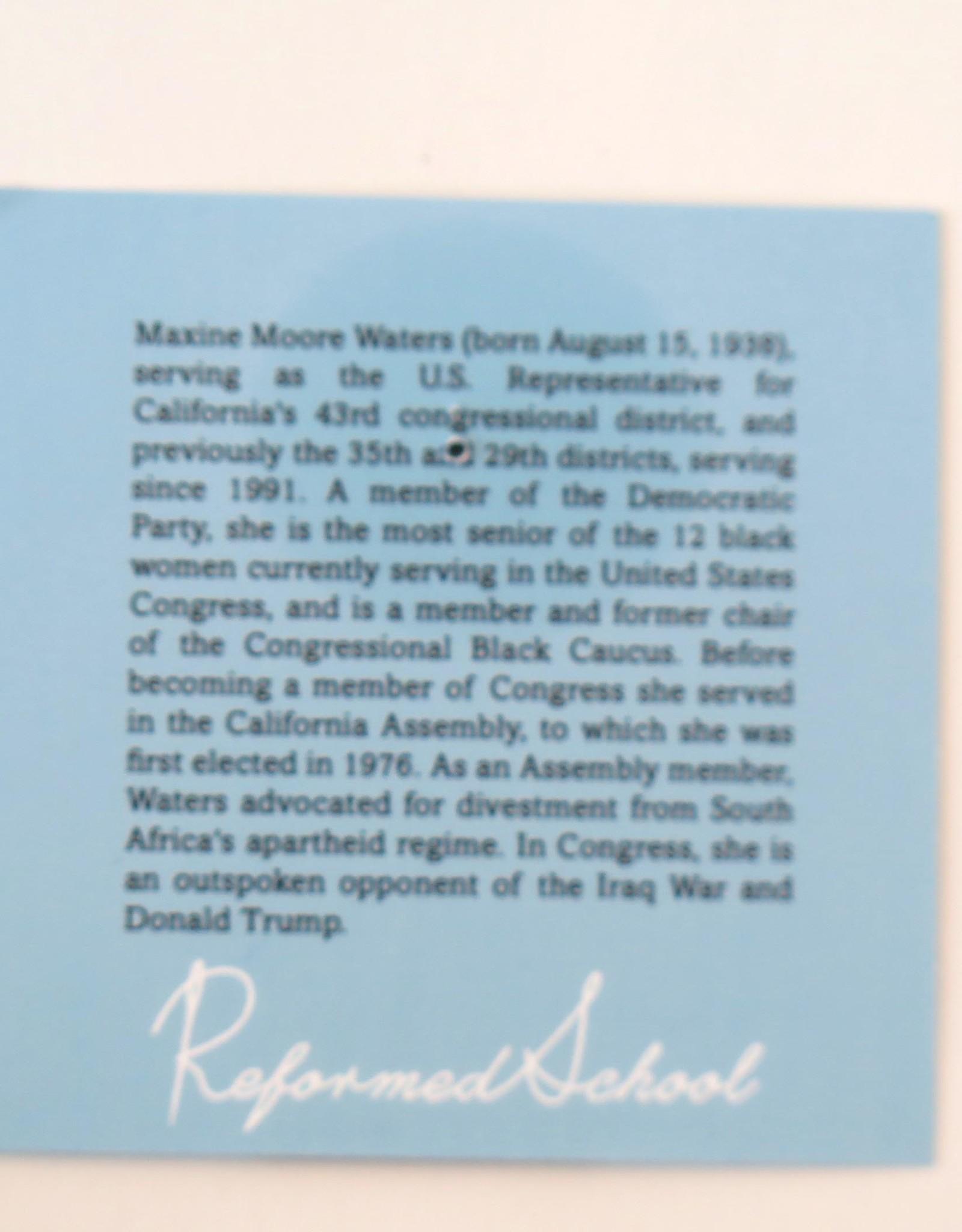 ReformedSchool Maxine Waters Enamel Pin by ReformedSchool