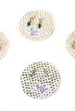 Juicey Gems Silver Holiday Lights Earrings by Juicey Gems