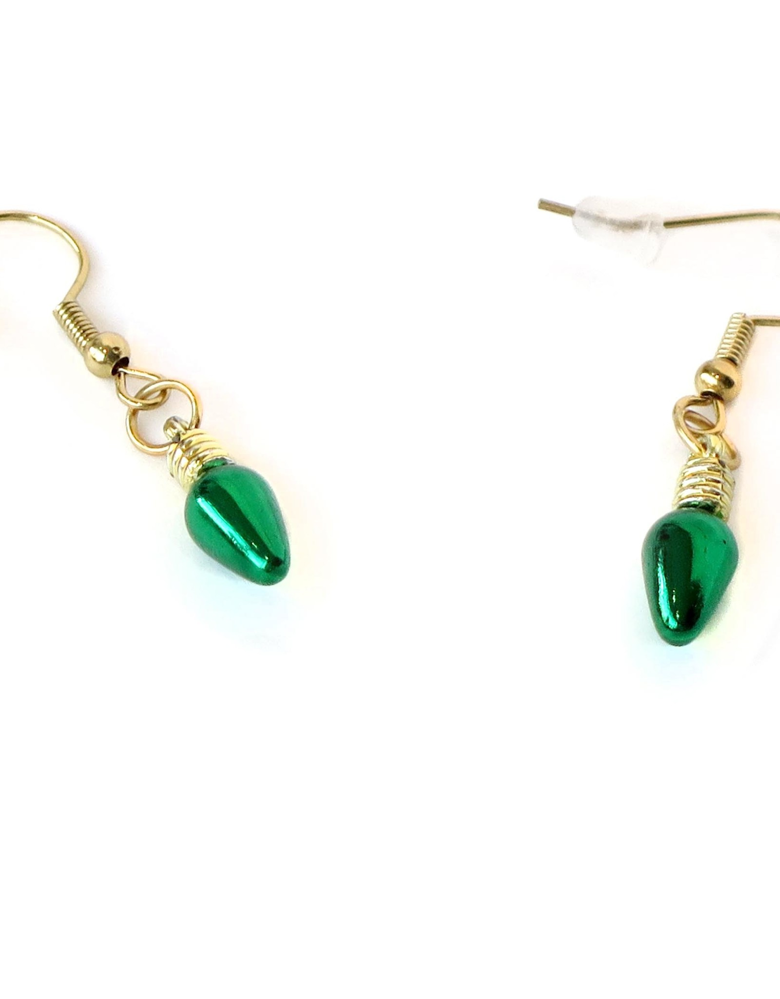 Juicey Gems Green Holiday Lights Earrings by Juicey Gems