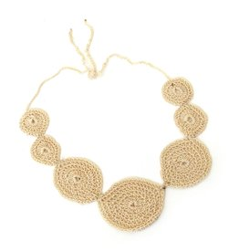 Juicey Gems Cream Juicey Knit Necklace by Juicy Gems