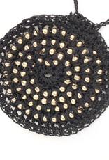 Juicey Gems Black Juicey Knit Necklace by Elizabeth Aguirre