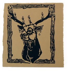 Untitled (Deer) screenprint, Lily Cozzens