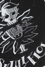 """""""Skull Flower"""" Inktober original drawing. Vixtopher"""