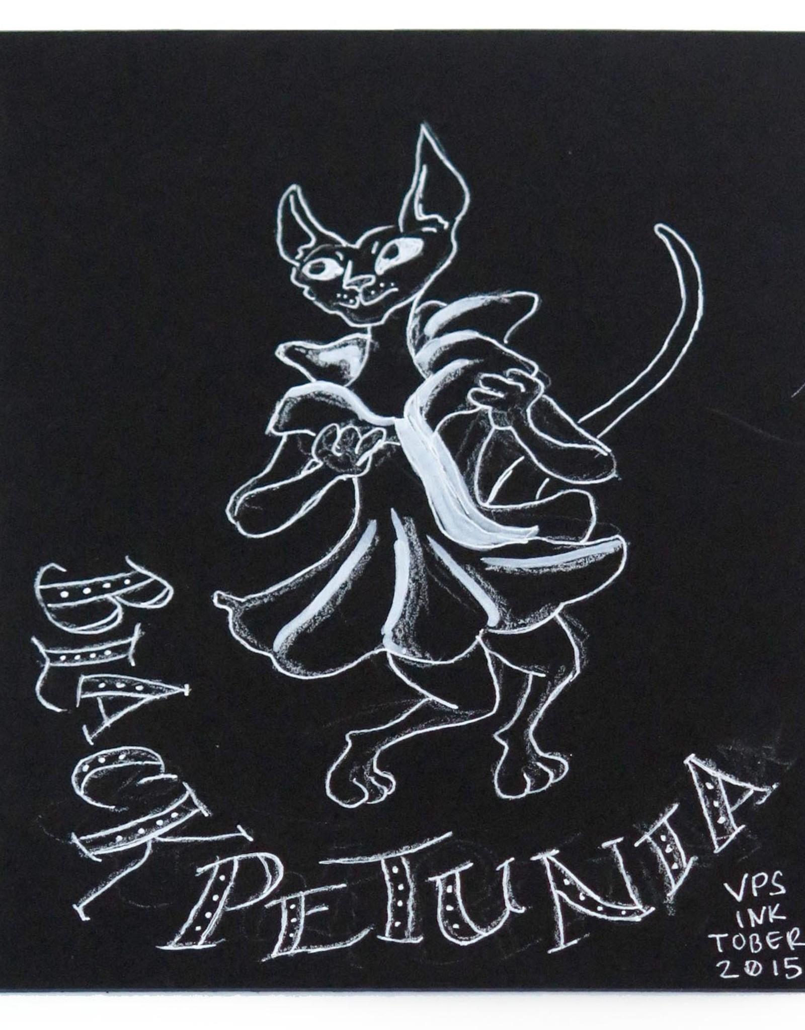 """""""Black Petunia"""" Inktober original drawing. Vixtopher"""
